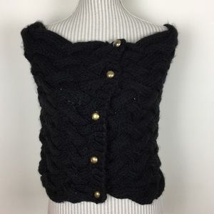 Sweaters - ✨ANNUAL SALE✨ NWT Soft Black Button Down Poncho